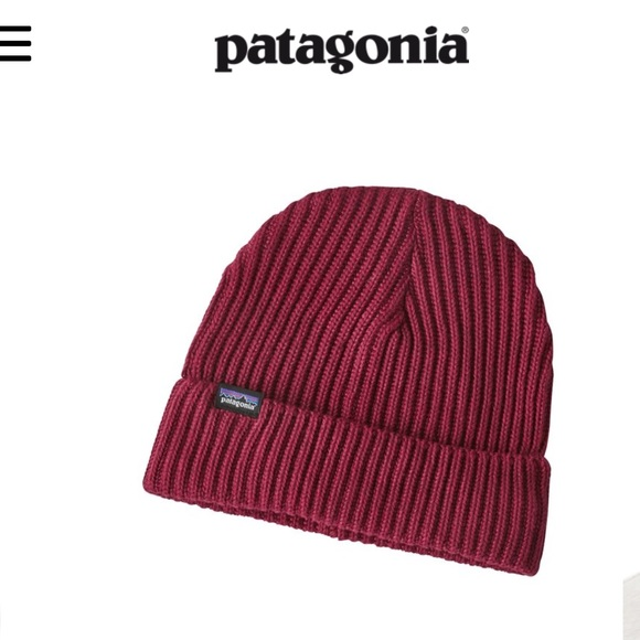 c8a04488183 NWT Patagonia Fisherman s rolled beanie oxide red
